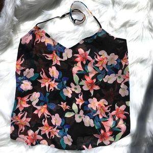 Show Me Your MuMu Sheer Floral Tank Top